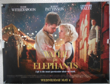 Water for Elephants, Original UK Quad Advance Poster, Pattinson , '11, vg-f